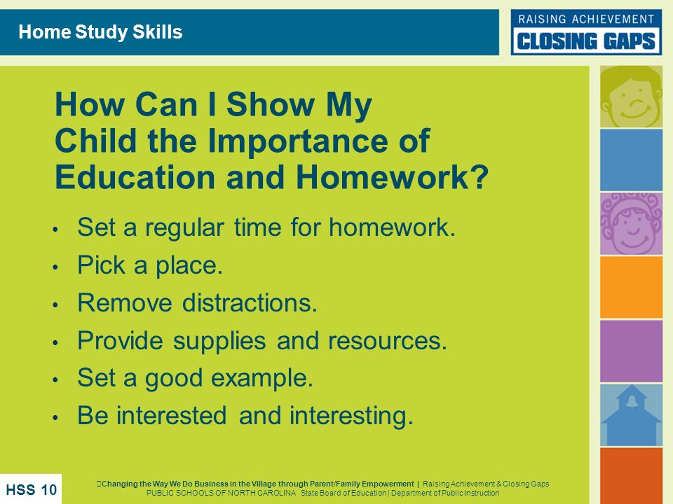 How Can I Show My Child the Importance of Education and Homework