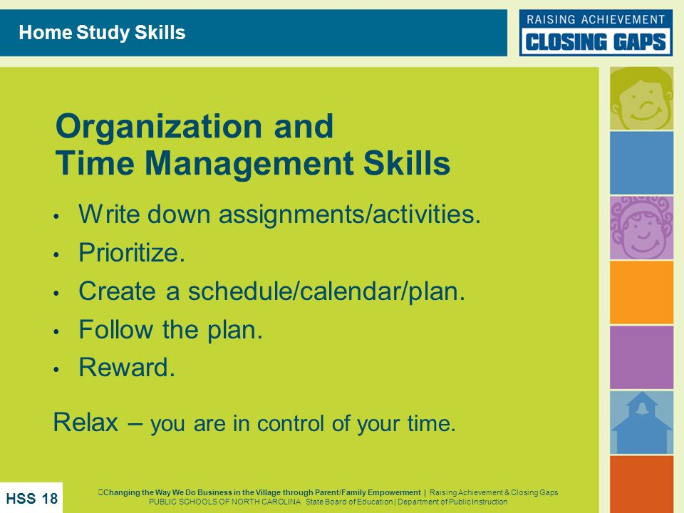 Organization and Time Management Skills