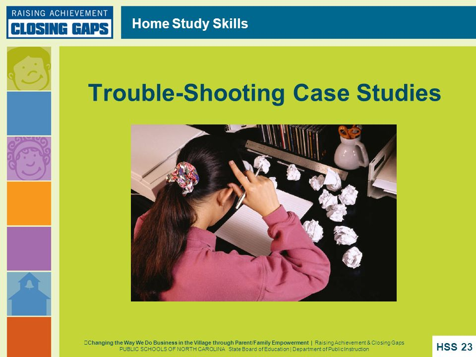 Trouble-Shooting Case Studies