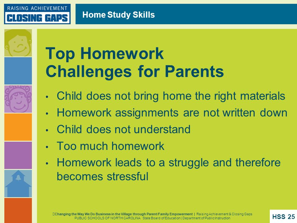 Top Homework Challenges for Parents