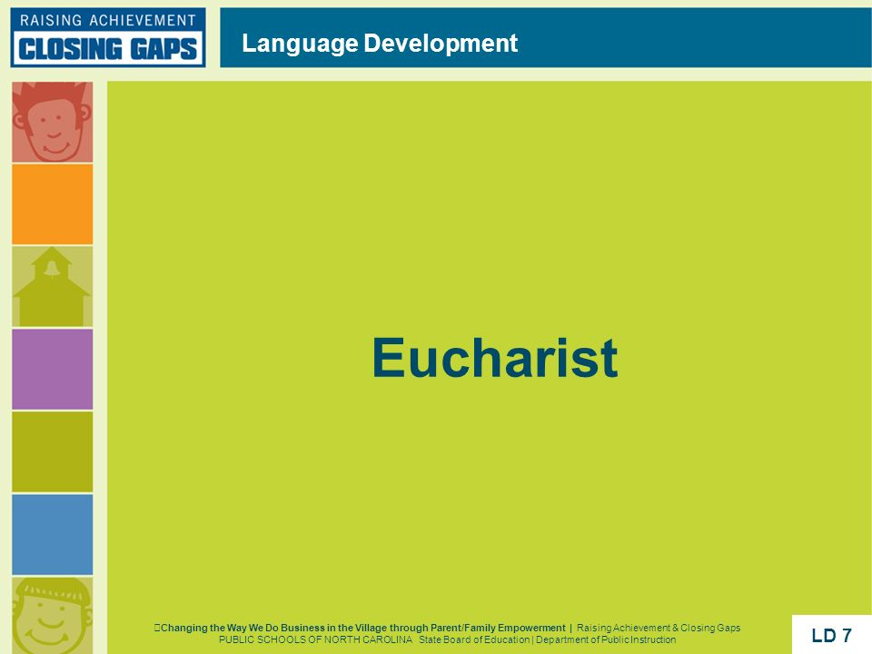 Eucharist Language Development LD 7 LD 7