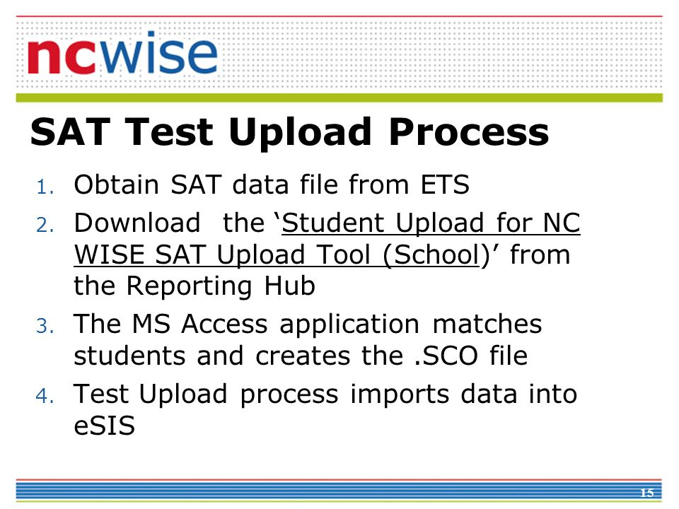 SAT Test Upload Process