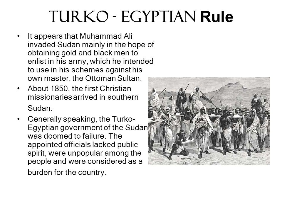 Turko - Egyptian Rule