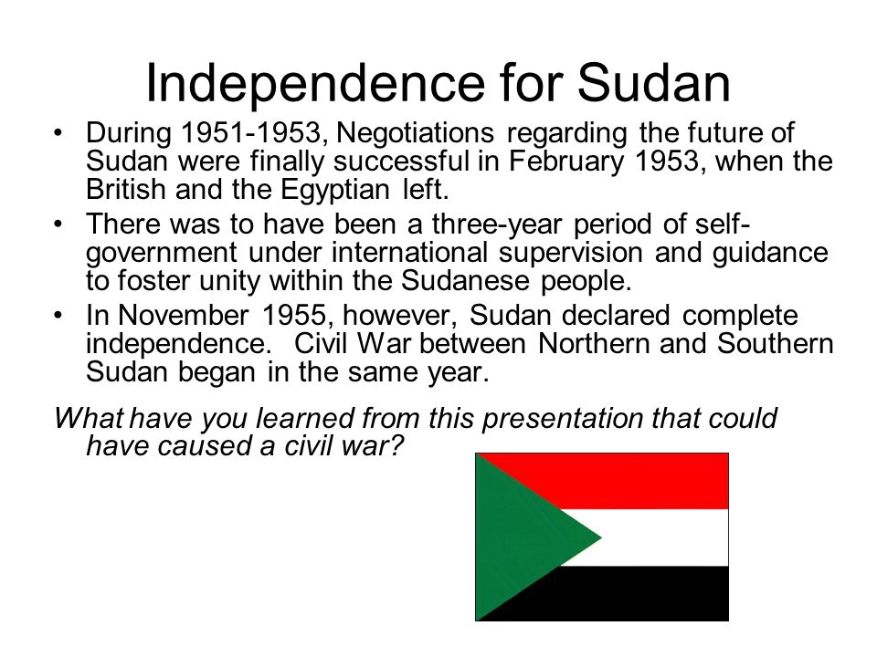 Independence for Sudan