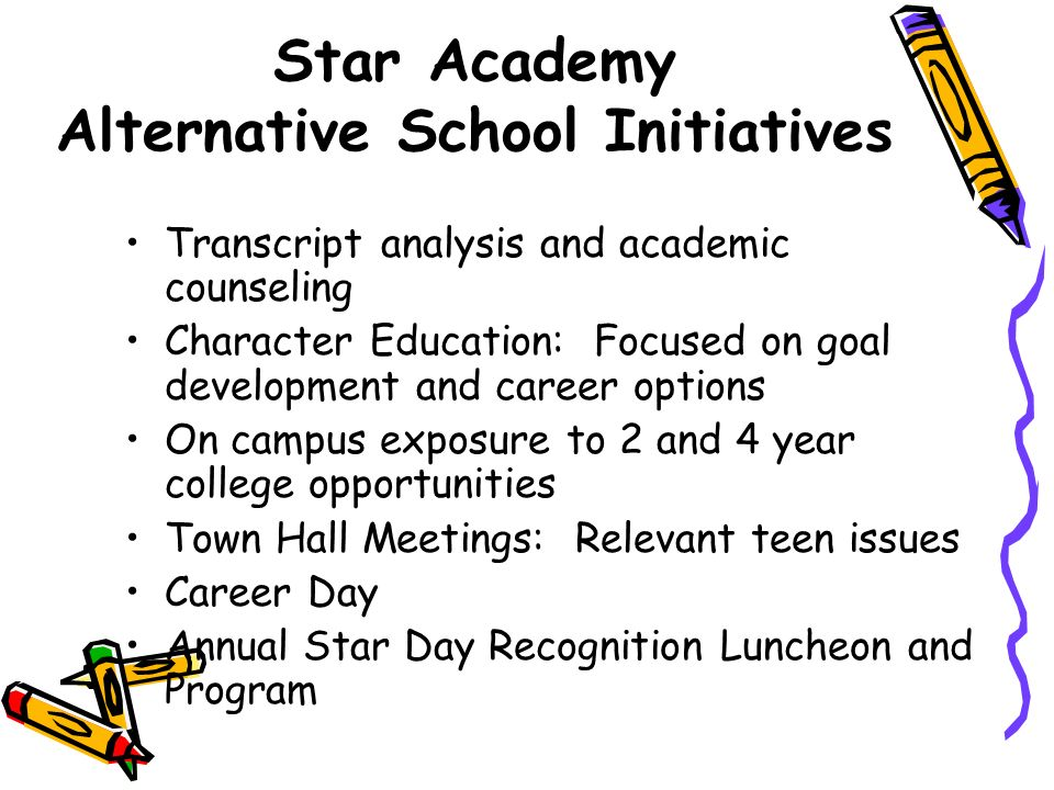 Star Academy Alternative School Initiatives