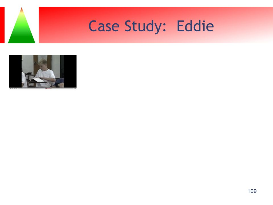 Case Study: Eddie Youtube video: Eddie Classroom Behavior