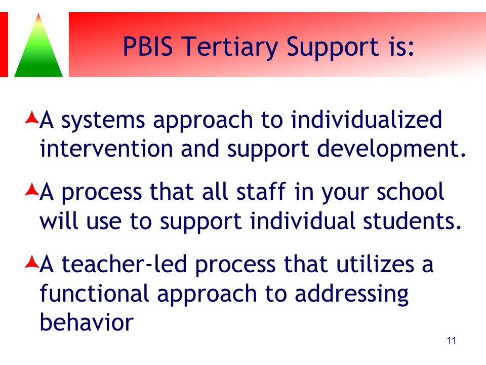 PBIS Tertiary Support is: