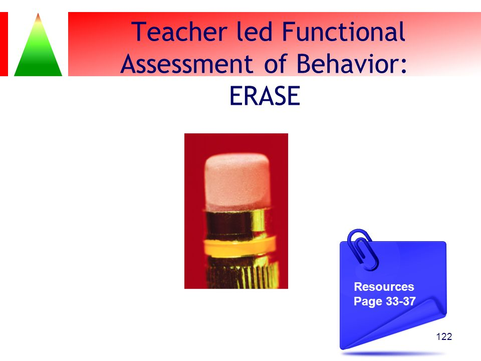 Teacher led Functional Assessment of Behavior: ERASE