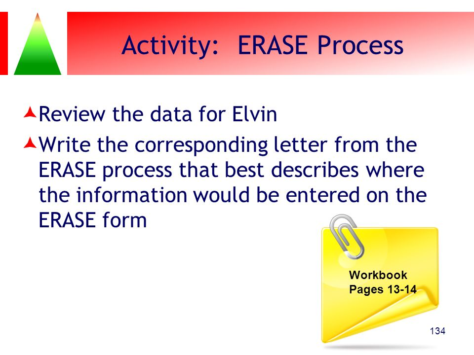 Activity: ERASE Process