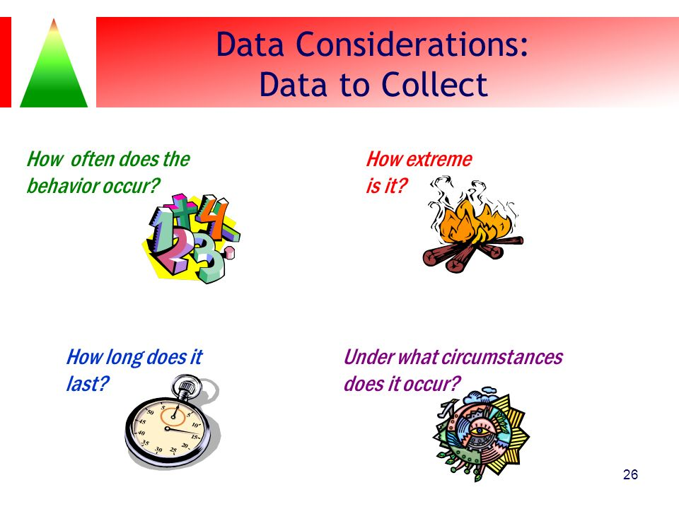 Data Considerations: Data to Collect