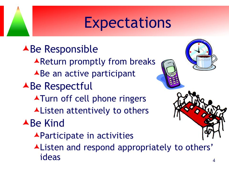 Expectations Be Responsible Be Respectful Be Kind