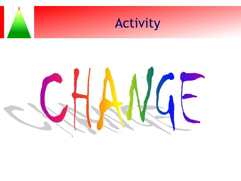 Activity CHANGE Activity: CHANGE