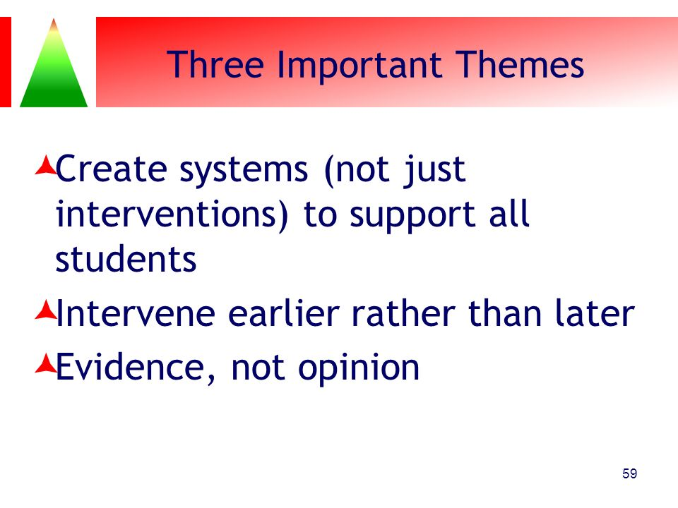 Three Important Themes