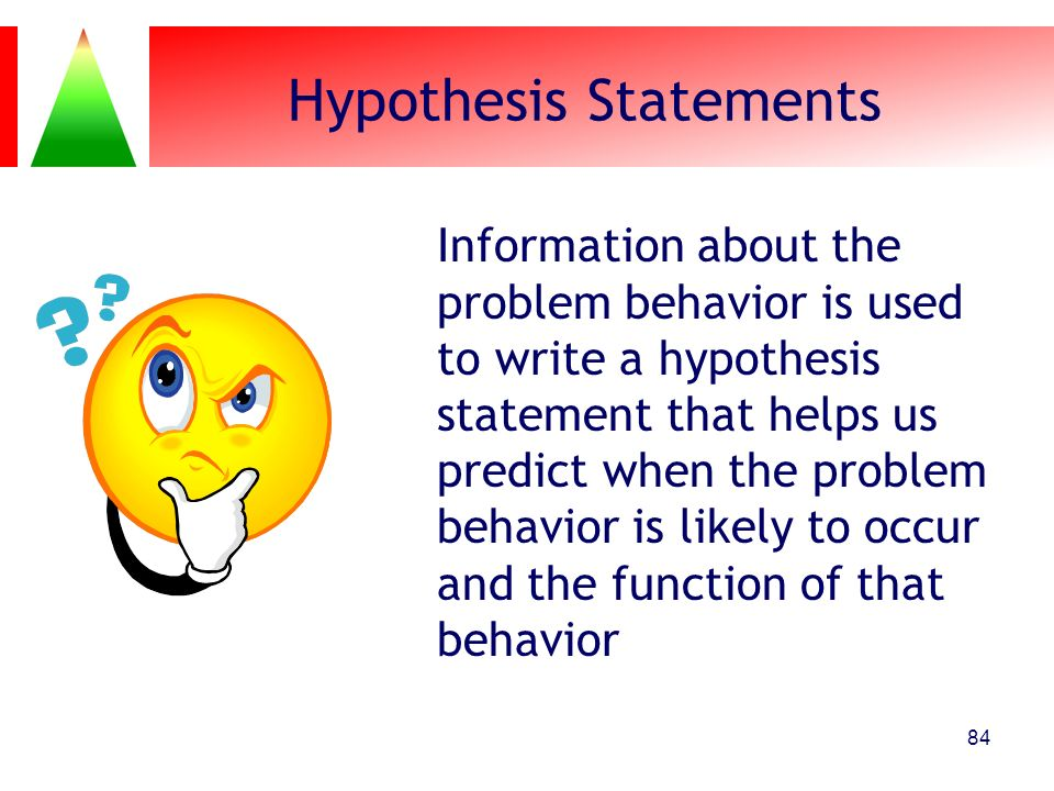 Hypothesis Statements