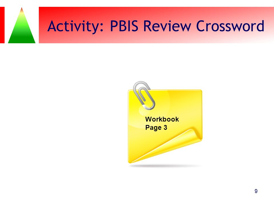 Activity: PBIS Review Crossword