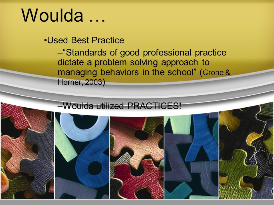 Woulda … Used Best Practice