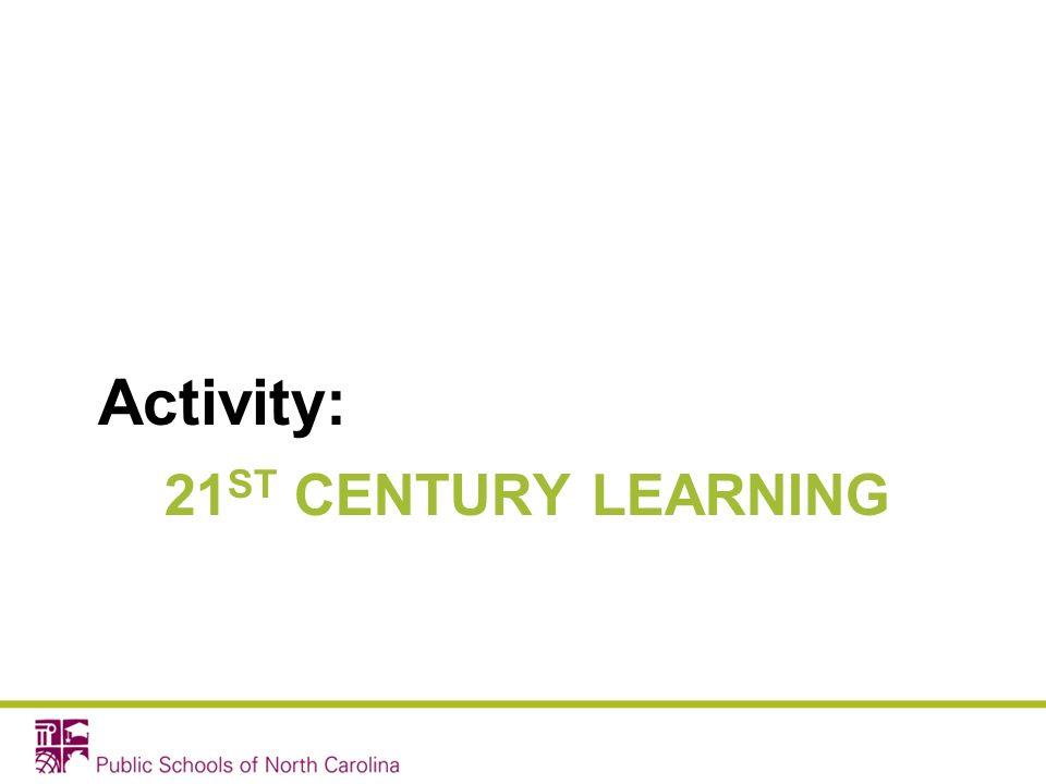 Activity: 21ST CENTURY LEARNING