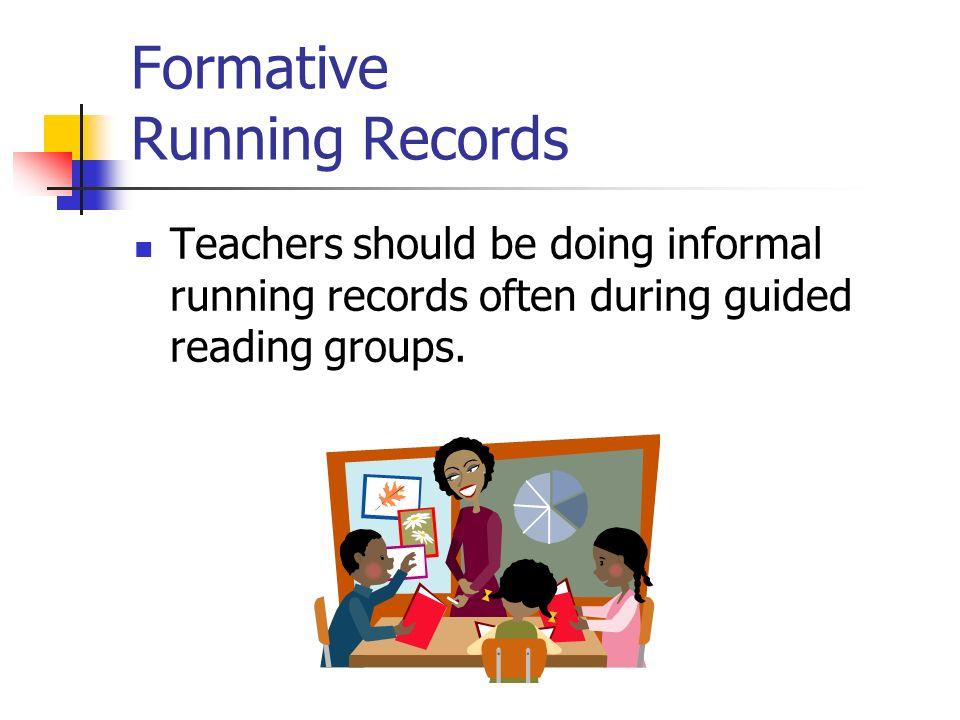 Formative Running Records