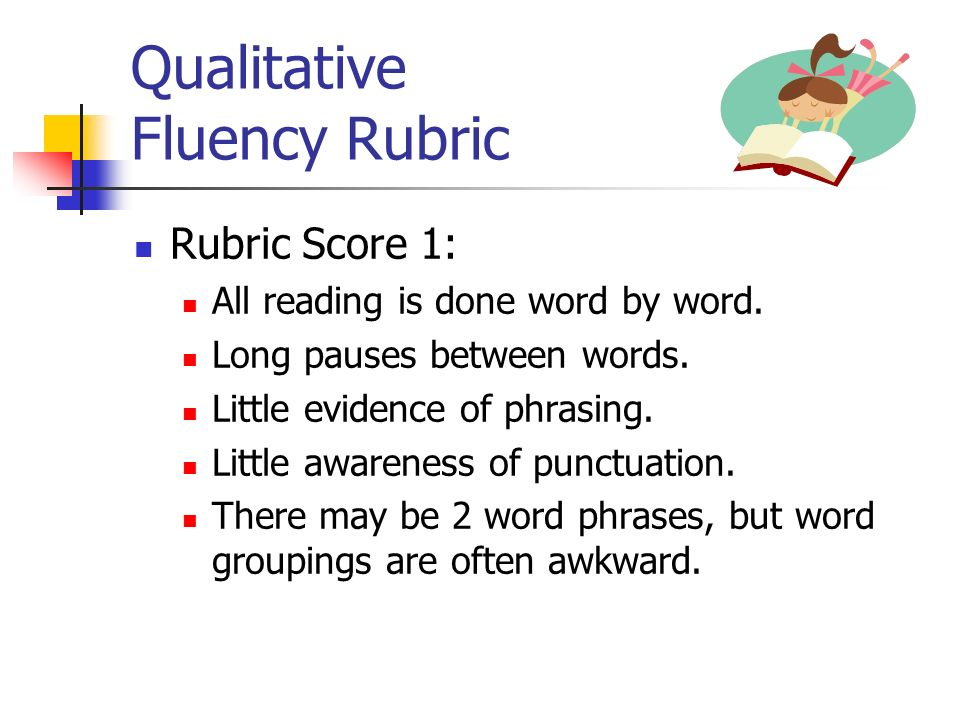 Qualitative Fluency Rubric