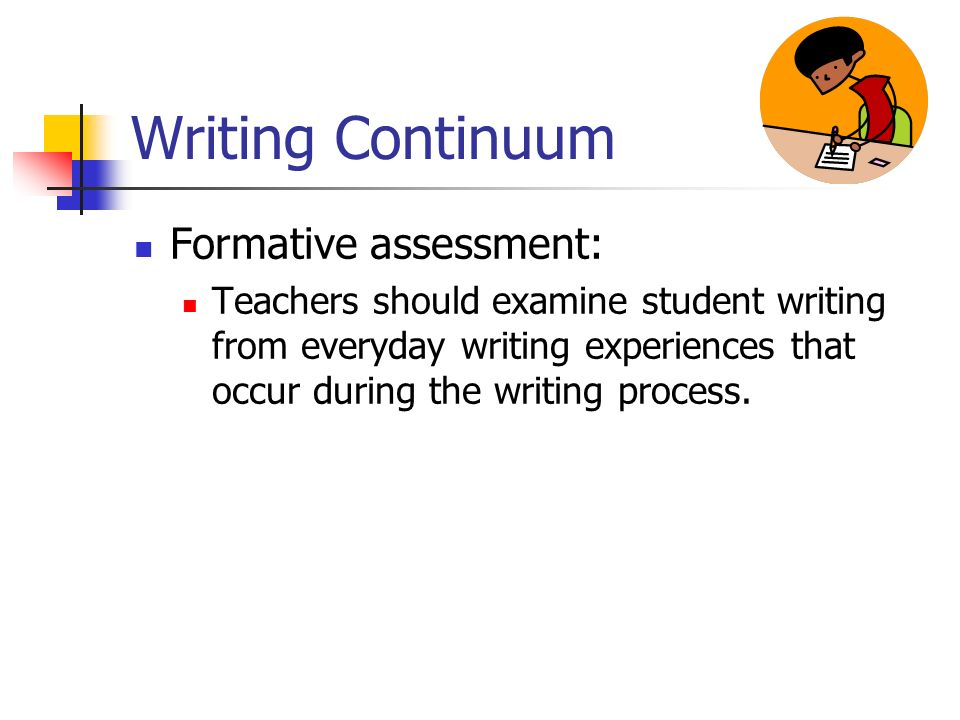 Writing Continuum Formative assessment: