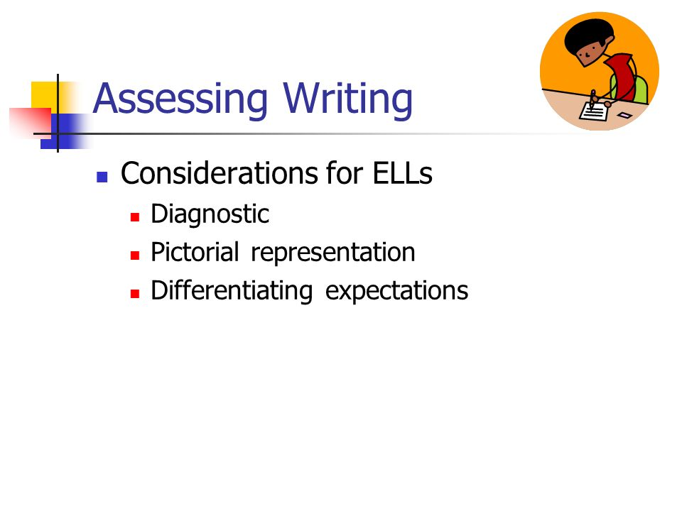 Assessing Writing Considerations for ELLs Diagnostic