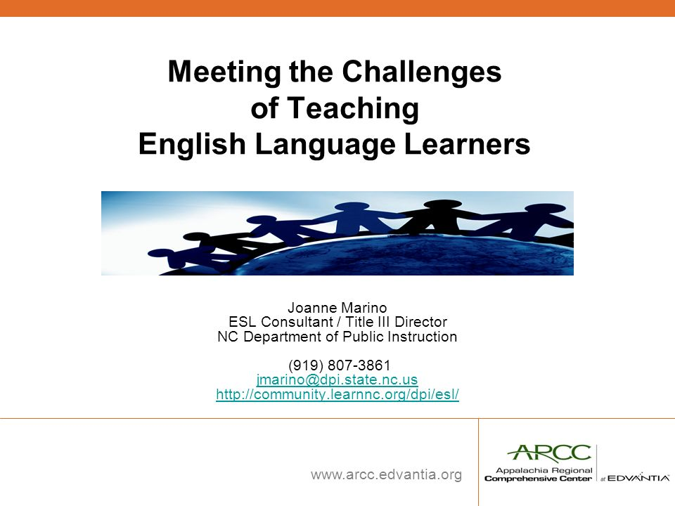 Meeting the Challenges of Teaching English Language Learners