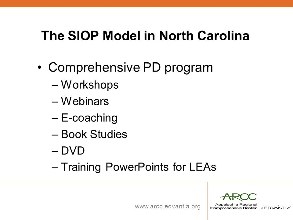 The SIOP Model in North Carolina