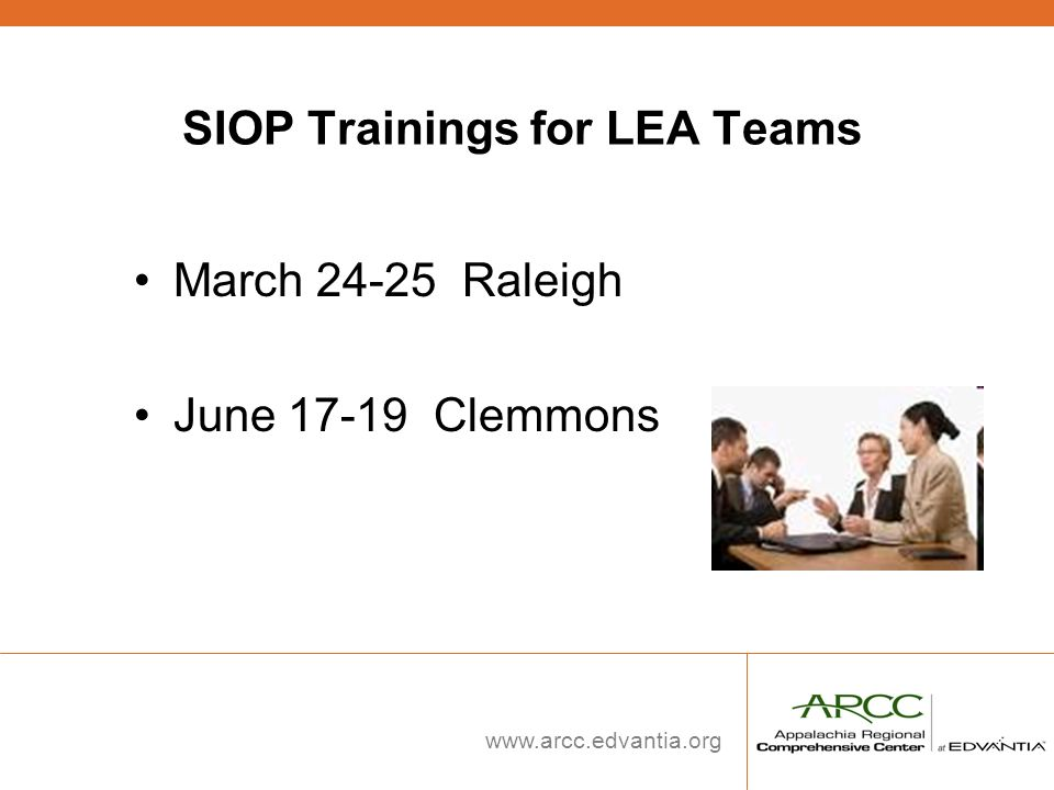 SIOP Trainings for LEA Teams