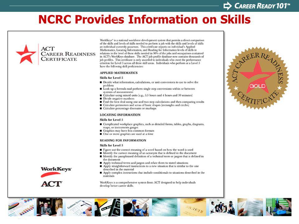 NCRC Provides Information on Skills