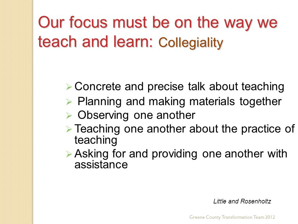Our focus must be on the way we teach and learn: Collegiality