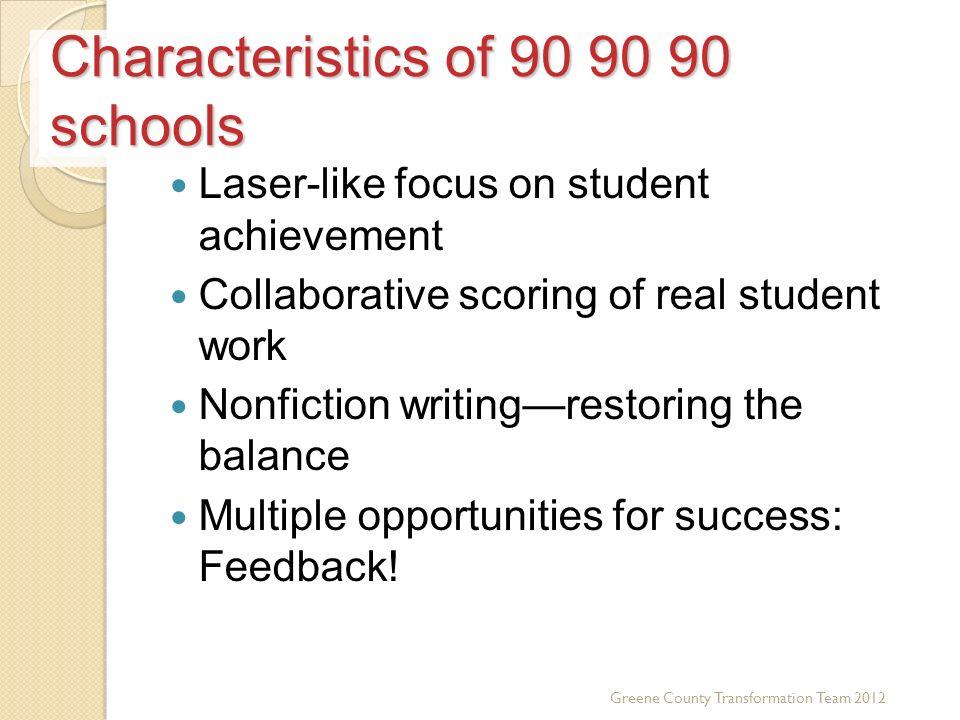 Characteristics of 90 90 90 schools