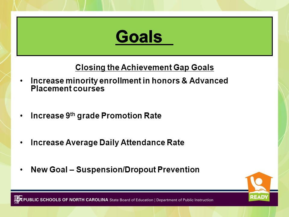Closing the Achievement Gap Goals