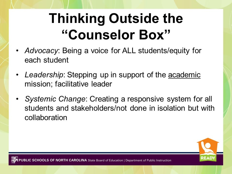 Thinking Outside the Counselor Box