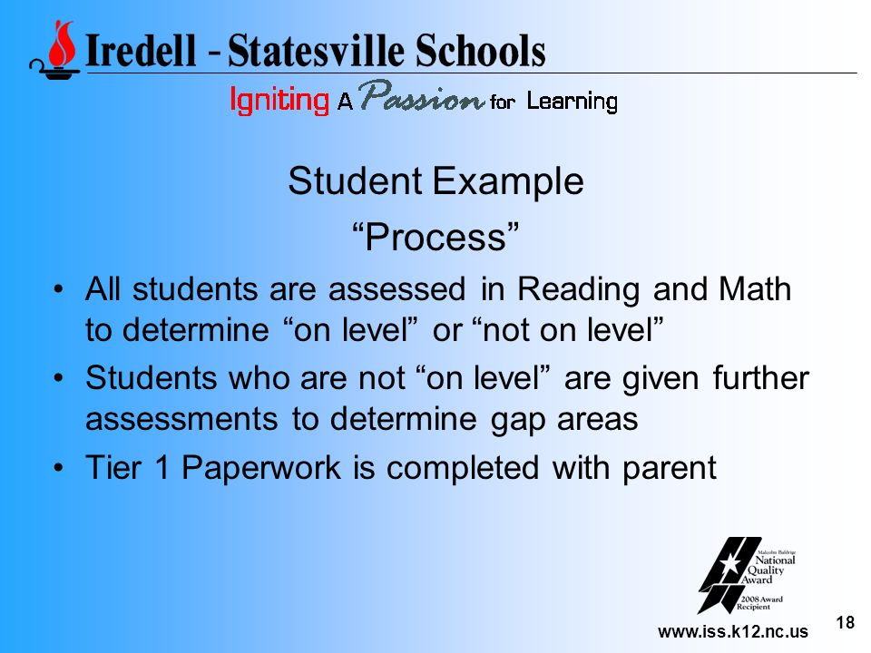 Student Example Process