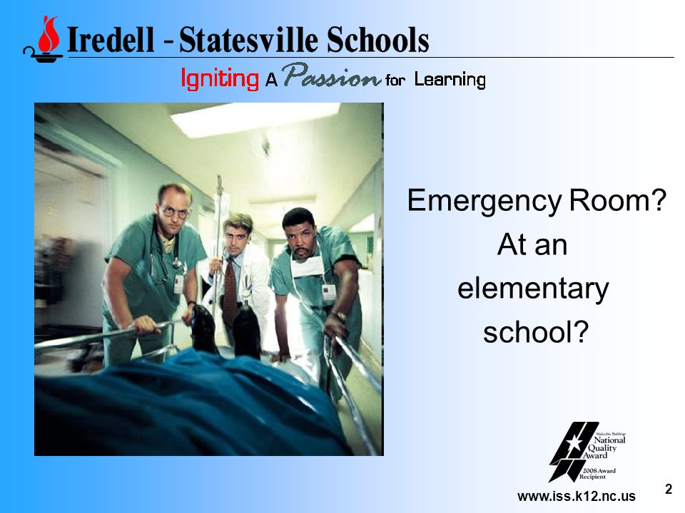 Emergency Room At an elementary school