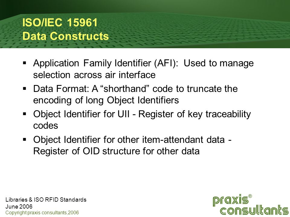 ISO/IEC 15961 Data Constructs
