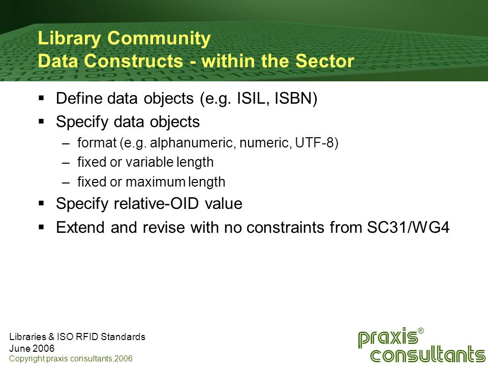 Library Community Data Constructs - within the Sector