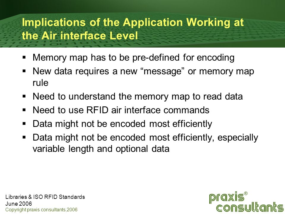 Implications of the Application Working at the Air interface Level
