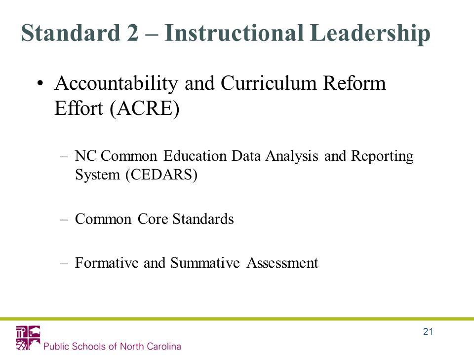 Standard 2 – Instructional Leadership