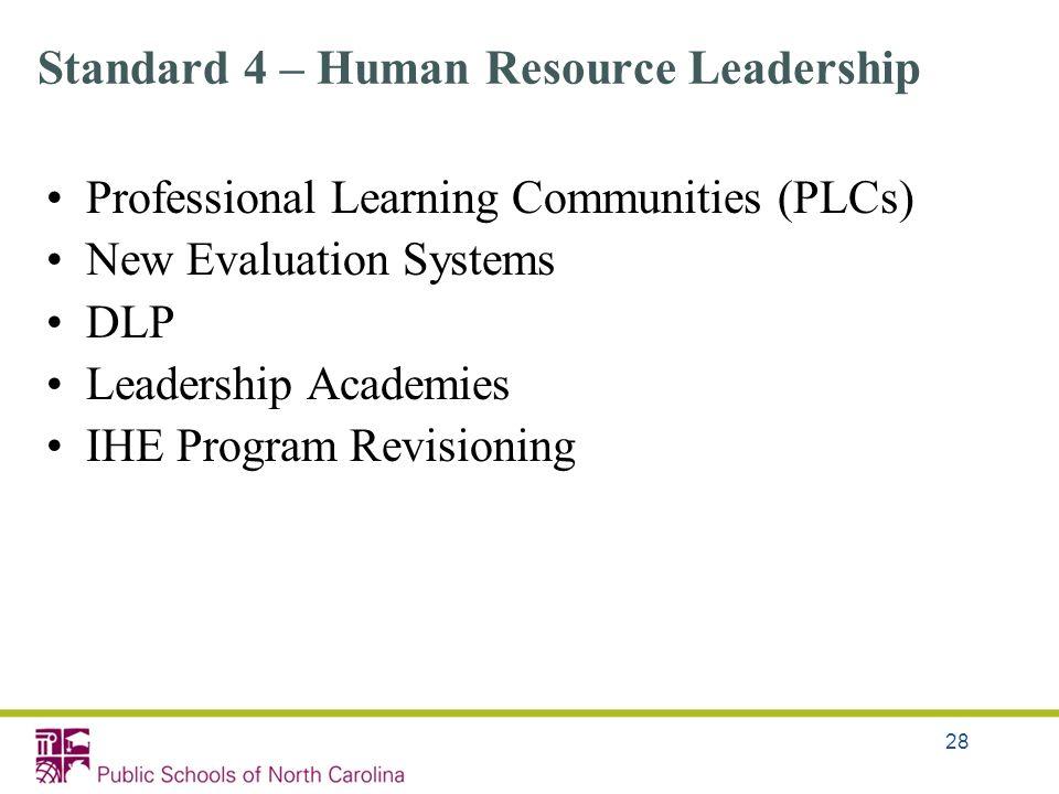 Standard 4 – Human Resource Leadership