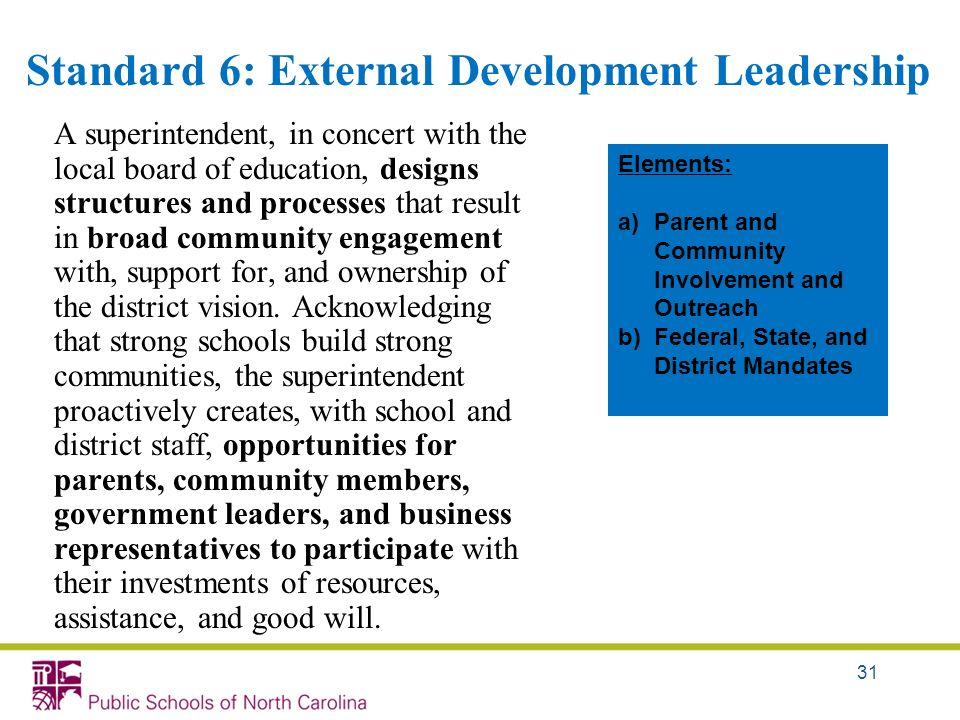 Standard 6: External Development Leadership