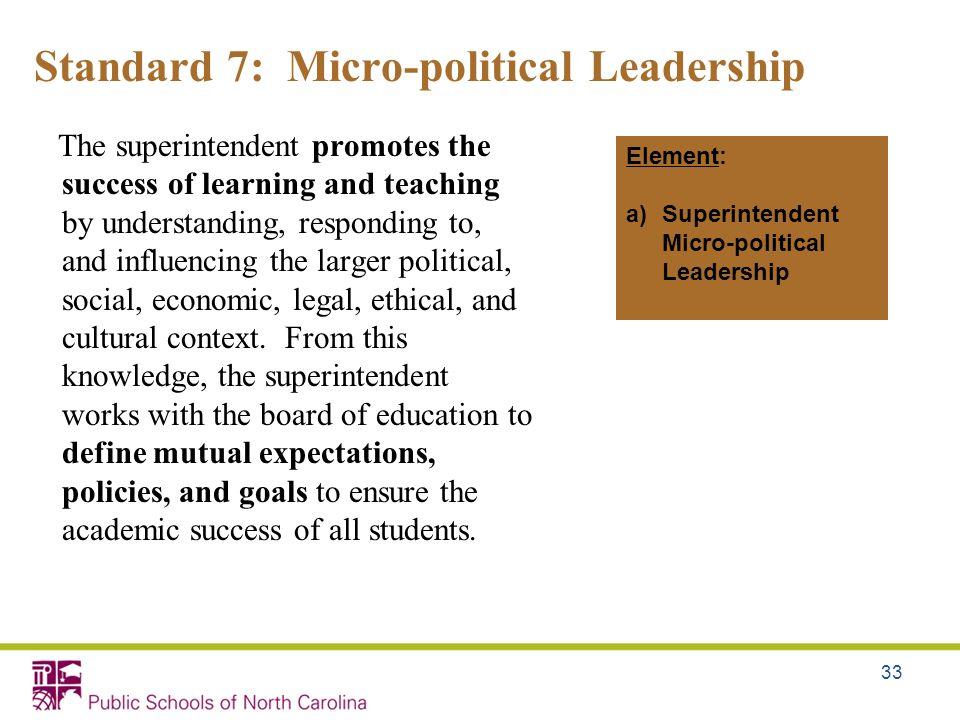 Standard 7: Micro-political Leadership