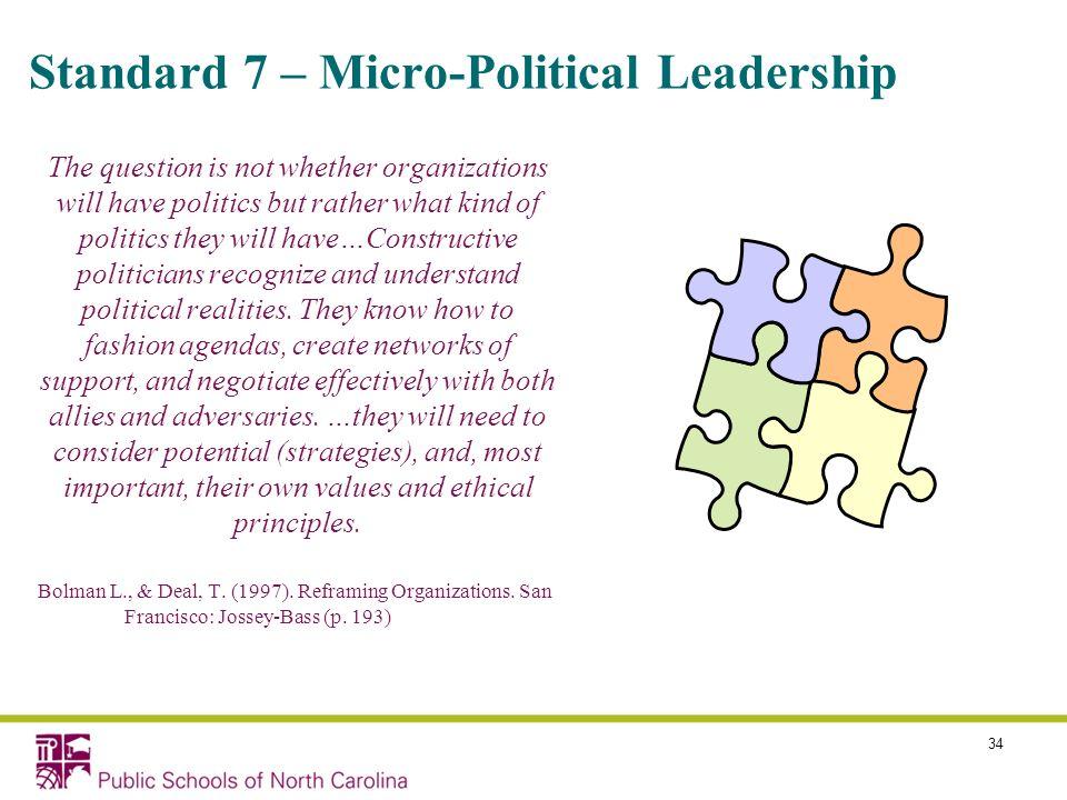 Standard 7 – Micro-Political Leadership