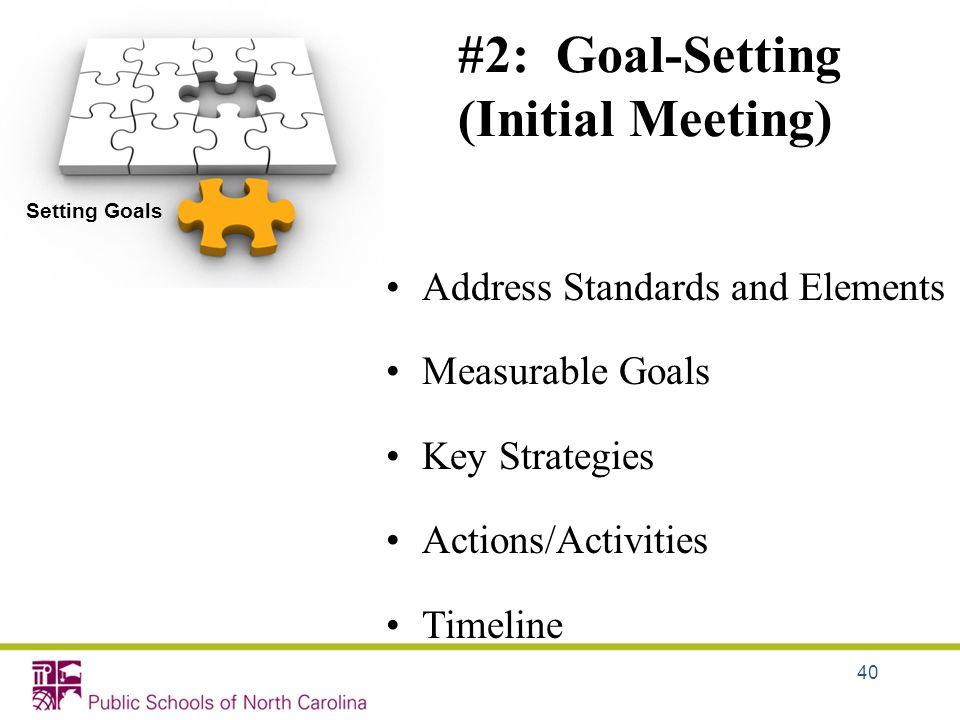 #2: Goal-Setting (Initial Meeting)