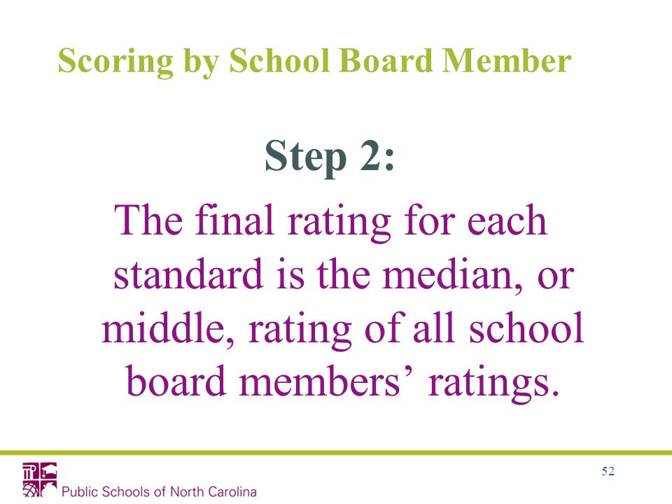 Scoring by School Board Member
