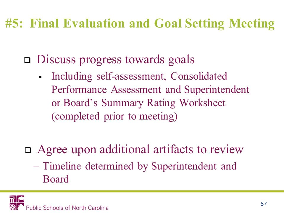 #5: Final Evaluation and Goal Setting Meeting