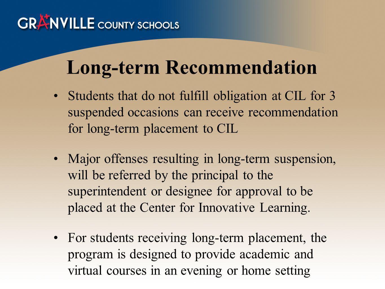 Long-term Recommendation