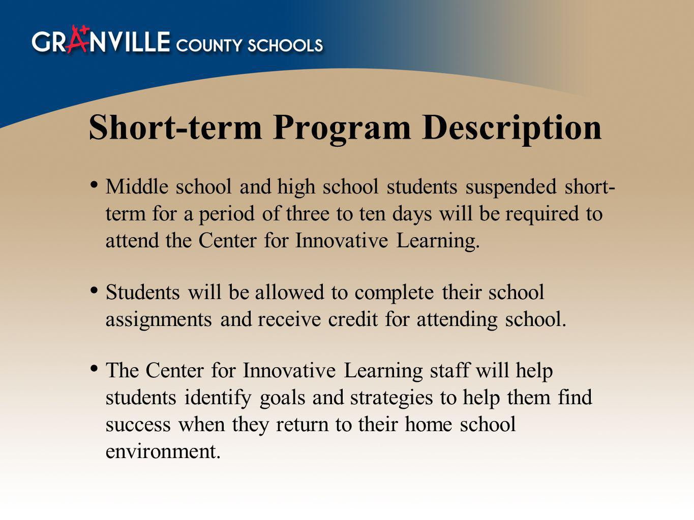 Short-term Program Description