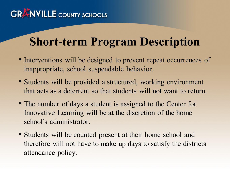 Short-term Program Description