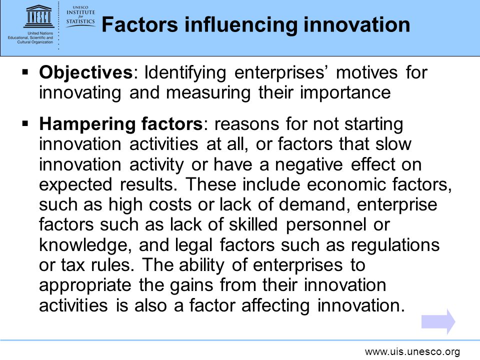 Factors influencing innovation